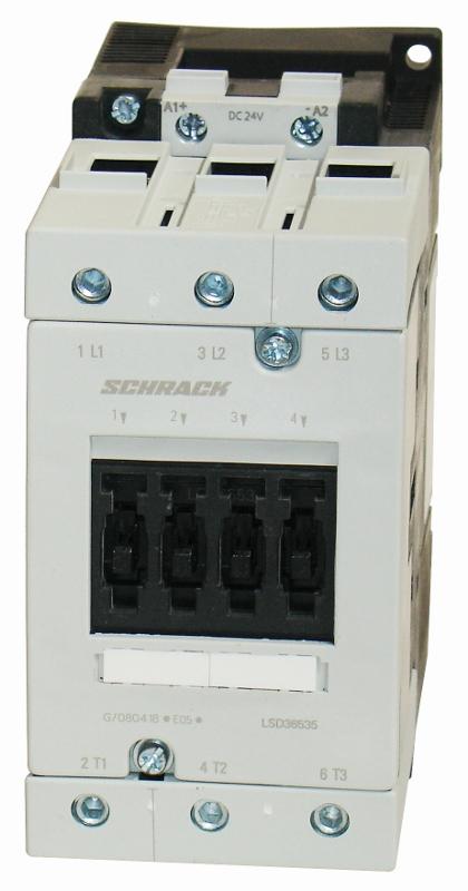 1 Stk Leistungsschütz, 30kW, 65A AC3, 24VDC, 3 LSD36535--