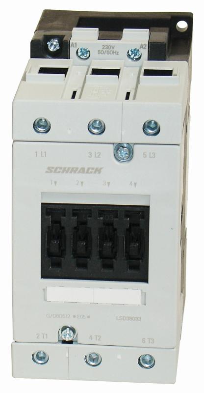 1 Stk Leistungsschütz, 37kW, 80A AC3, 230VAC, 3 LSD38033--