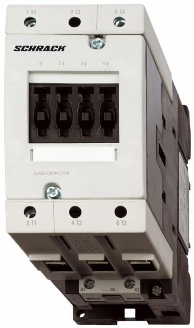 1 Stk Leistungsschütz, 37kW, 80A AC3, 24VAC, 2 S + 2 Ö, 3 LSD38050--