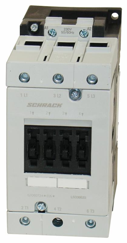 1 Stk Leistungsschütz, 45kW, 95A AC3, 230VAC, 3 LSD39533--