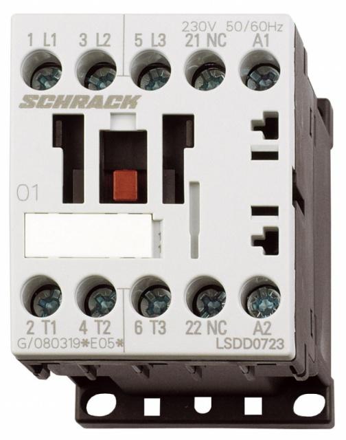 1 Stk Leistungsschütz, 3kW, 7A AC3, 1 Ö, 24VDC, 00 LSDD0725--
