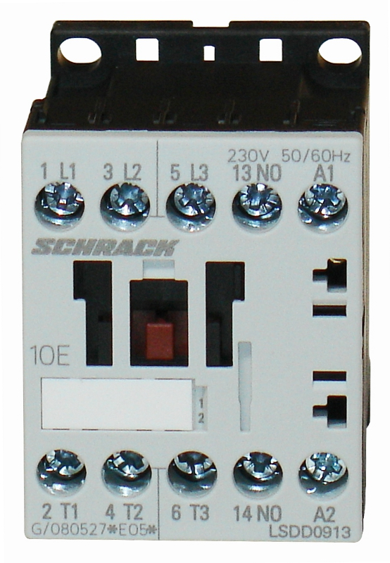 1 Stk Leistungsschütz, 4kW, 9A AC3, 1 S, 230VAC, 00 LSDD0913--