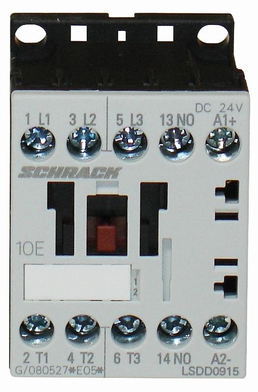 1 Stk Leistungsschütz, 4kW, 9A AC3, 1 S, 24VDC, 00 LSDD0915--