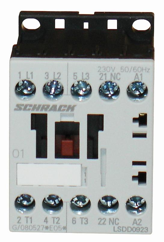1 Stk Leistungsschütz, 4kW, 9A AC3, 1 Ö, 230VAC, 00 LSDD0923--