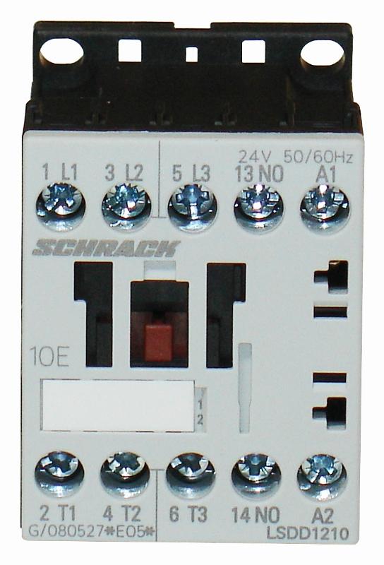 1 Stk Leistungsschütz, 5,5kW, 12A AC3, 1 S, 24VAC, 00 LSDD1210--