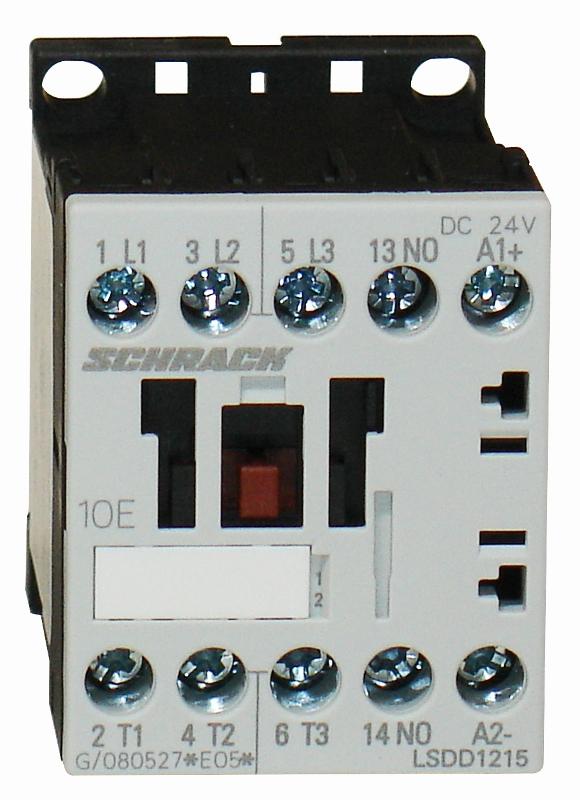 1 Stk Leistungsschütz, 5,5kW, 12A AC3, 1 S, 24VDC, 00 LSDD1215--