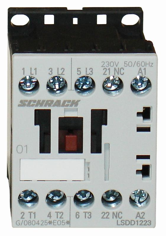 1 Stk Leistungsschütz, 5,5kW, 12A AC3, 1 Ö, 24VDC, 00 LSDD1225--