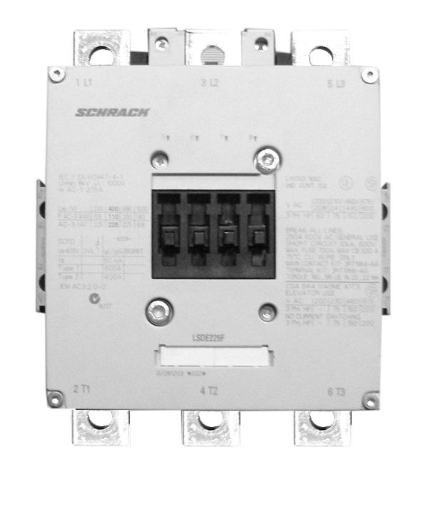 1 Stk Leistungsschütz, 110kW, 225A AC3, 220-240VACDC, 10 LSDE225F--