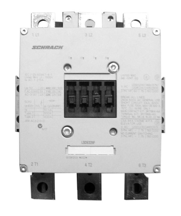 1 Stk Leistungsschütz, 132kW, 265A AC3, 220-240VACDC, 10 LSDE265F--
