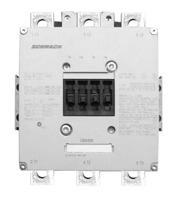 1 Stk Leistungsschütz, 200kW, 400A AC3, 220-240VACDC, 12 LSDG415F--