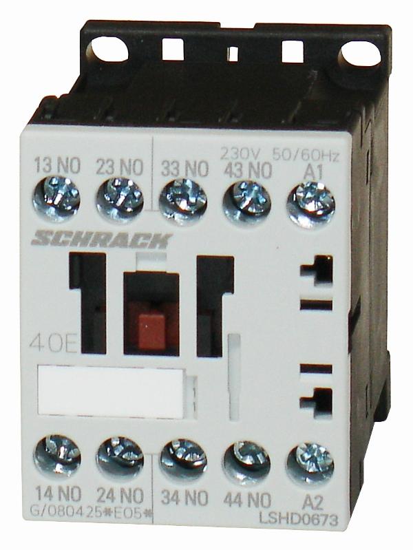 1 Stk Hilfsschütz, 6A, 4S, 17-30VDC für SPS, mit Diodenbeschaltung LSHD067G--