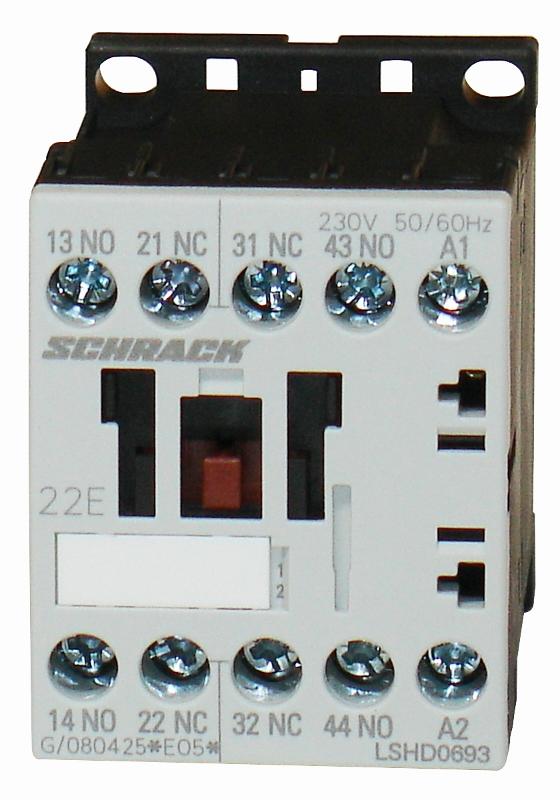 1 Stk Hilfsschütz, 6A, 2S + 2Ö, 17-30VDC für SPS, mit Diodenbesch. LSHD069G--
