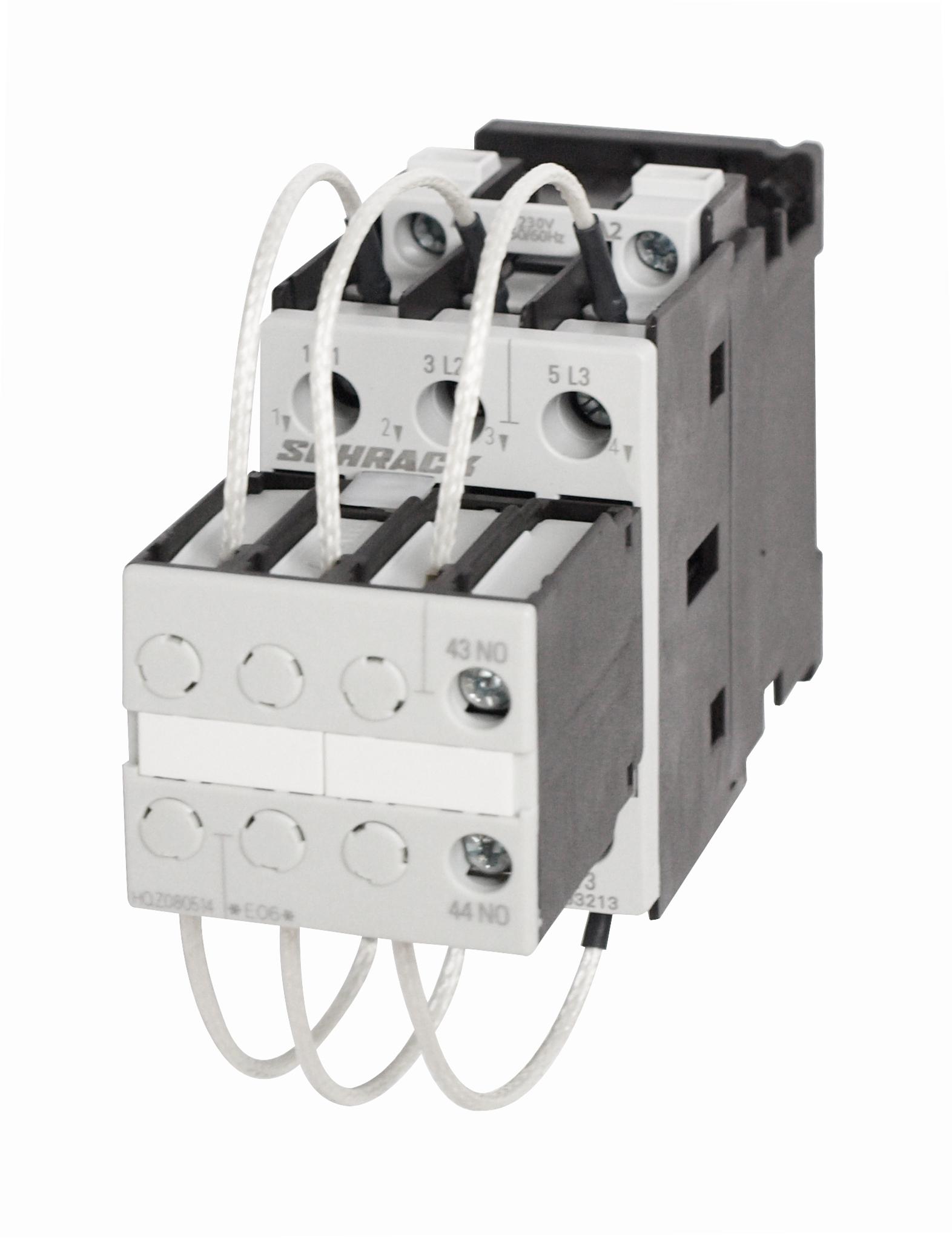 1 Stk Kondensatorschütz, AC6 25kVAr/400V, 230VAC, 1S, 0 LSK03213--