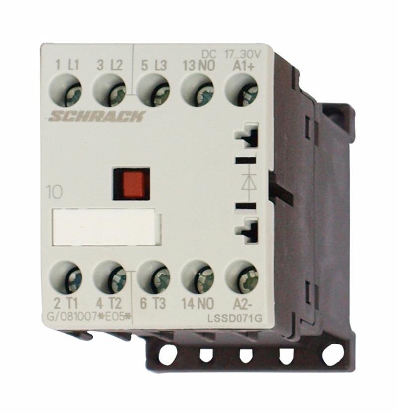 1 Stk Leistungsschütz, 3kW, 7A AC3, 1 S, 17-30VDC, 00 LSSD071G--