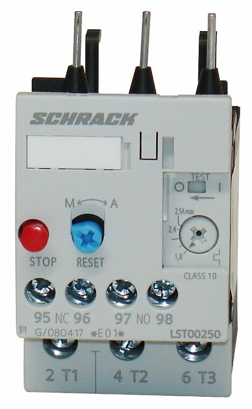 1 Stk Thermisches Überlastrelais 1,80 - 2,50A, 0 LST00250--
