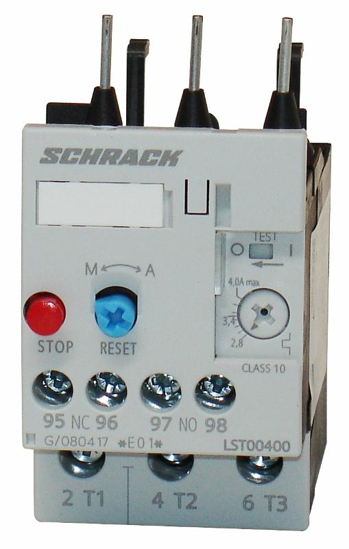 1 Stk Thermisches Überlastrelais 2,80 - 4,00A, 0 LST00400--