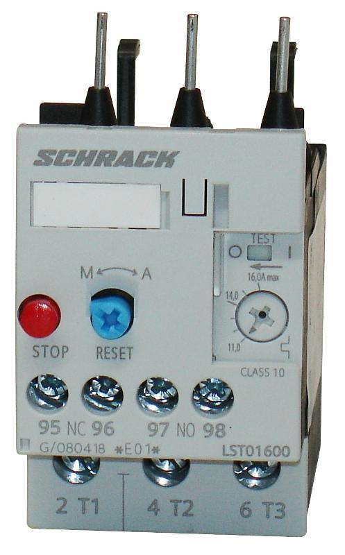 1 Stk Thermisches Überlastrelais 11,00-16,00A, 0 LST01600--