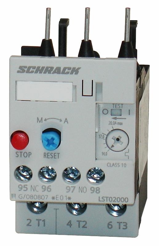1 Stk Thermisches Überlastrelais 14,00-20,00A, 0 LST02000--