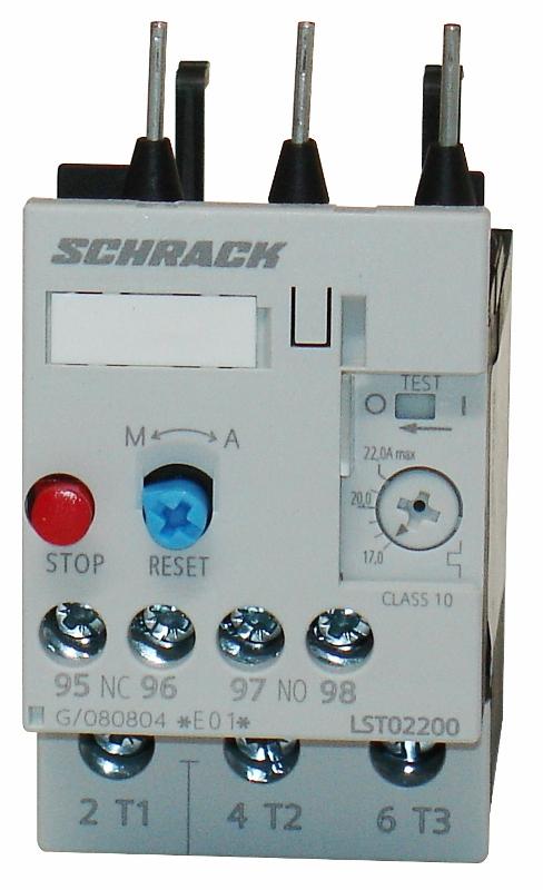 1 Stk Thermisches Überlastrelais 17,00-22,00A, 0 LST02200--