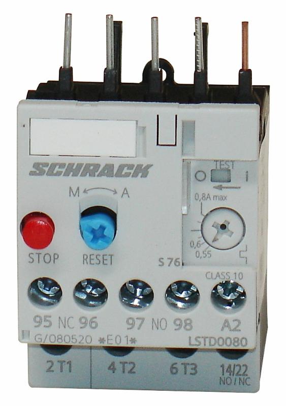 1 Stk Thermisches Überlastrelais 0,55 - 0,80A, Baugröße 00 LSTD0080--