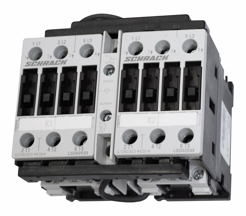 1 Stk Wendeschützkombination, 11kW, 25A AC3, 230VAC, 0 LSW02533--