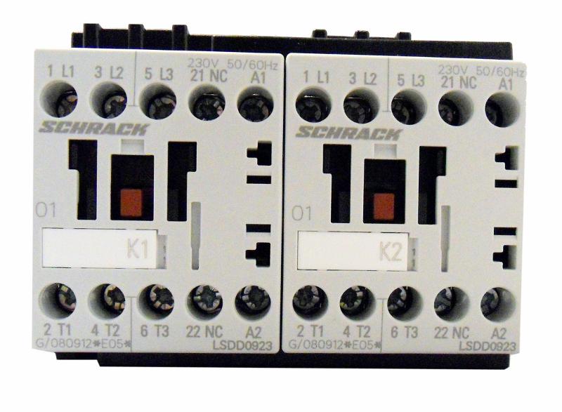 1 Stk Wendeschützkombination, 4kW, 9A AC3, 230VAC, 00 LSWD0933--
