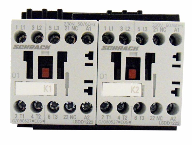 1 Stk Wendeschützkombination, 5,5kW, 12A AC3, 230VAC, 00 LSWD1233--