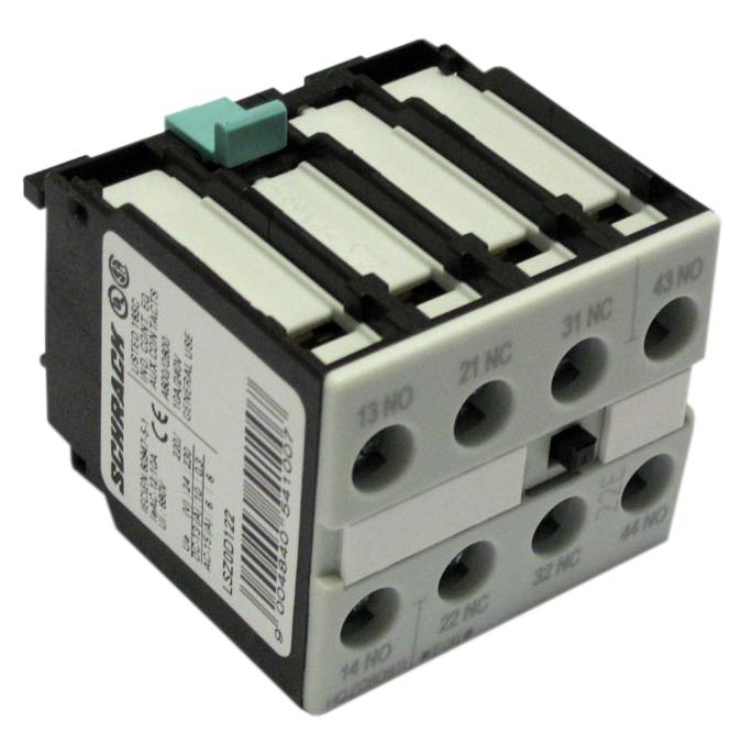 1 Stk Hilfsschalter 4-polig 2 S + 2 Ö, 0-12 DIN 50005 LSZ0D122F-
