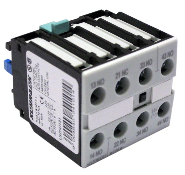 1 Stk Hilfsschalter 4-polig 3 Schließer + 1 Öffner, 0-12 LSZ0D131--