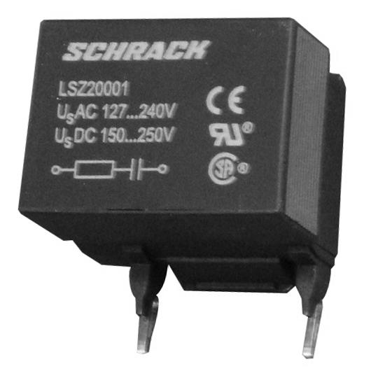 1 Stk RC-Glied 127-240VAC 150-250VDC, für 2 und 3 LSZ20001--