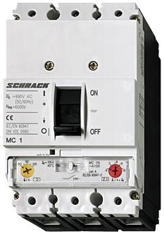 1 Stk Leistungsschalter Type A, 3-polig, 25kA, 160A MC116131--
