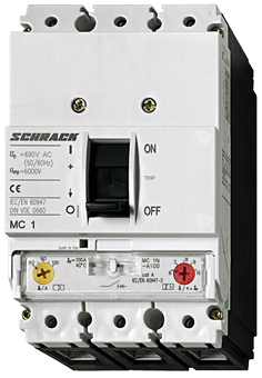 1 Stk Leistungsschalter Type A, 3-polig, 50kA, 160A MC116231--