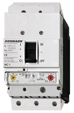 1 Stk Leistungsschalter Type A, 3-polig, 25kA, 63A, steckbar MC163131S-