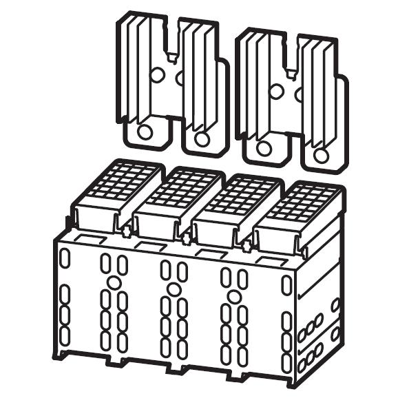 1 Stk Serienverbinder Gr.3, 4/2-polig mit Kühlkörper und Abdeckung MC390601--