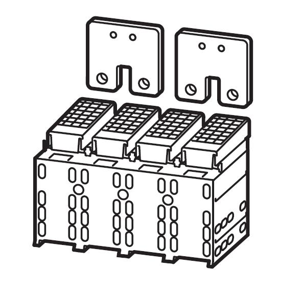 1 Stk Serienverbinder Gr.3, 4/2-polig, mit Abdeckung MC390602--