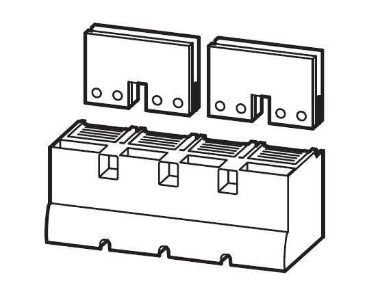 1 Stk Serienverbinder Gr. 4, 4/2-polig 1250A, inklusive Abdeckung MC490602--