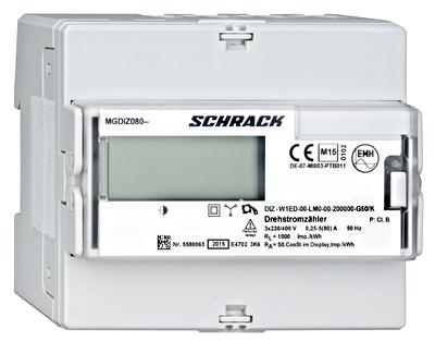 1 Stk Digitaler kWh-Zähler, direkt 80A, 2 Tarife, RE MGDIZ080-Z
