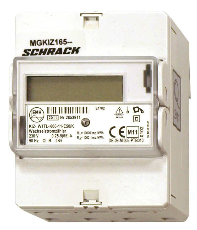 1 Stk Digitaler Wechselstromzähler 65A, 2 Tarife,  m. MID MGKIZ165--