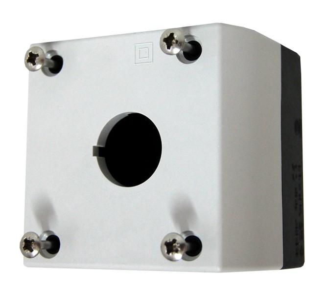 1 Stk AP-Gehäuse 1 Befehlsstelle schwarz/hellgrau MM216535--