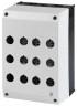 1 Stk Aufbaugehäuse 12 schwarz/hellgrau MM222688--
