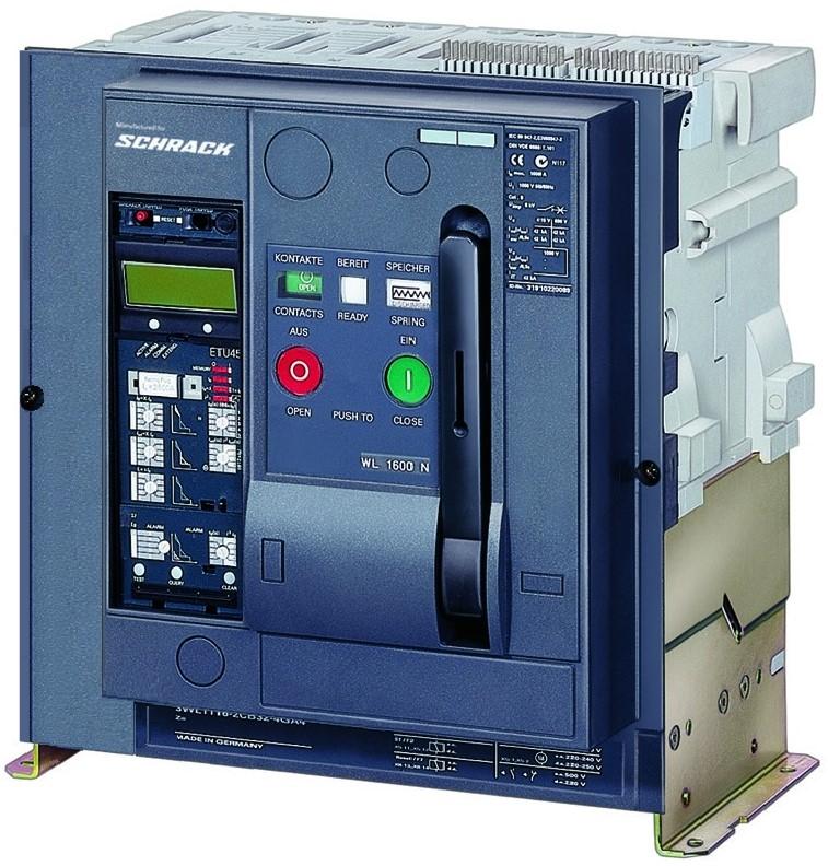 1 Stk Leistungsschalter, MO2, 4-polig, 3200A, 66kA, Festeinbau, FD MO232244--
