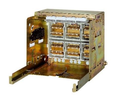 1 Stk Einschubrahmen 3-polig 2500A horiz., 4 Steuerstecker, BGr.2 MO904AC4--