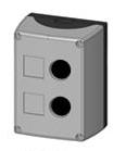 1 Stk Aufbaugehäuse 2-Loch, schwarz/grau MSG21000--