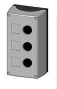 1 Stk Aufbaugehäuse 3-Loch, schwarz/grau MSG31000--