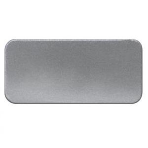 1 Stk Schild Alu 12,5x27mm, selbstklebend ohne Text MSZS000012