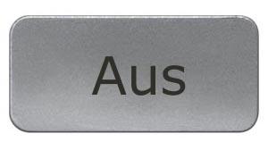 1 Stk Schild 17,5x28mm, Alu, aufschnappbar, AUS MSZS000317