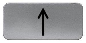 1 Stk Schild 17,5x28mm, Alu, aufschnappbar, Pfeil vertikal MSZS001517
