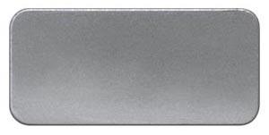 1 Stk Schild 17,5x28mm, Alu, aufschnappbar, ohne Beschriftung MSZS001717