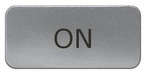 1 Stk Schild 17,5x28mm, Alu, aufschnappbar, ON MSZS010217