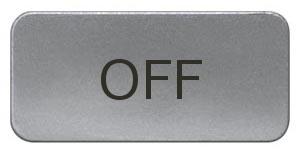 1 Stk Schild 17,5x28mm, Alu, aufschnappbar, OFF MSZS010317